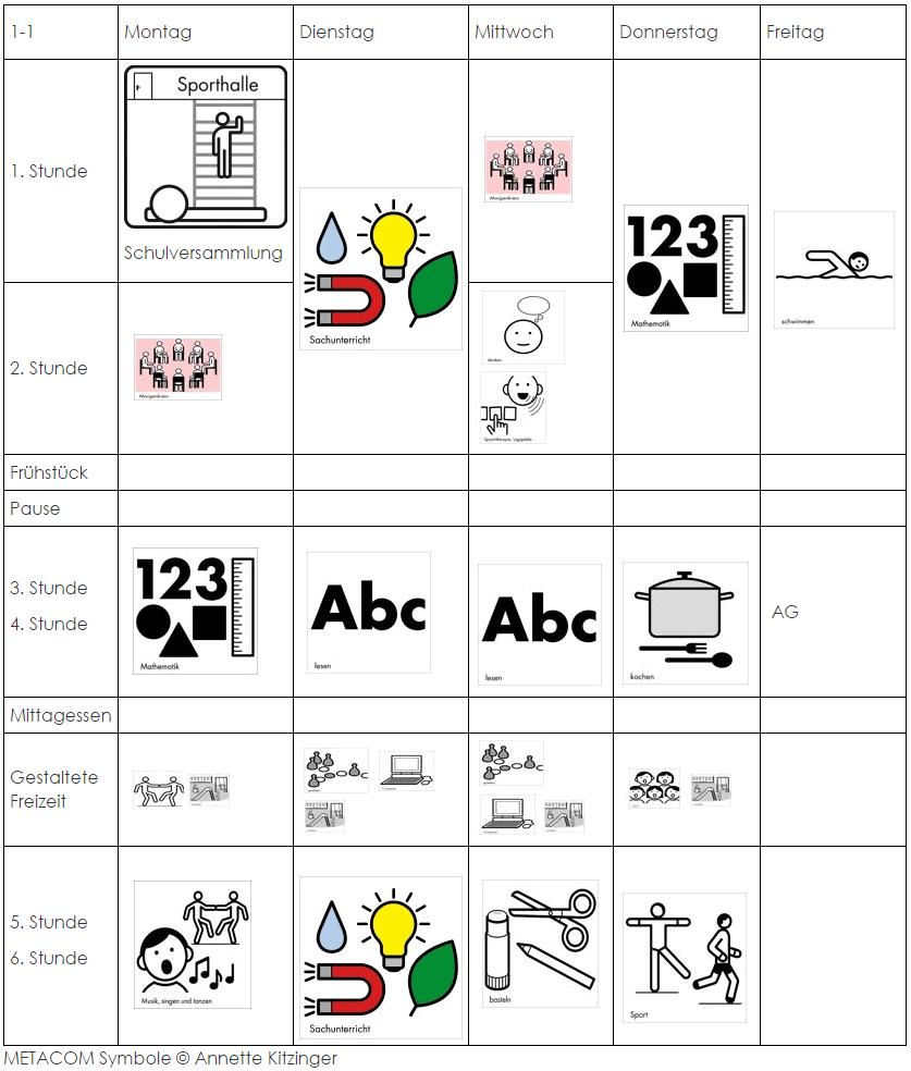 Stundenplan Buchholzer Waldschule